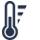 Icône température extrusion imprimante 3D