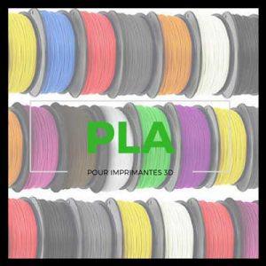 Vignette filaments PLA pour imprimante 3D